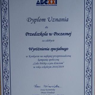 Wyróżnienie specjalne w Kampanii CAŁA POLSKA CZYTA DZIECIOM - zdjęcie 3